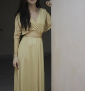 Золотое вечернее платье Золотой песок 42-44