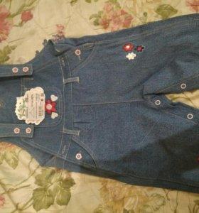 Комбинезон джинсовый для девочки новый