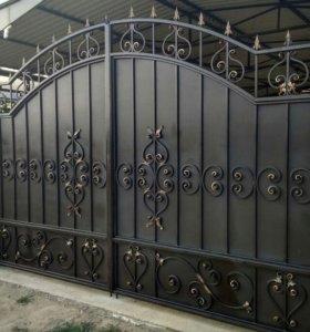 Кованые ворота kv-86