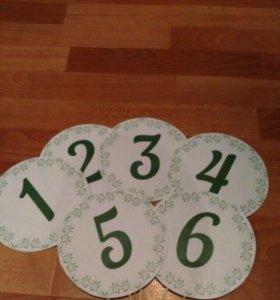 Номера на столы