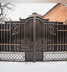 Кованые ворота kv-21