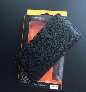 Кожаный чехол для IPhone 6/6s Plus + плёнка Deppa