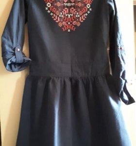 Платье для девочки 10-11 лет, хлопок