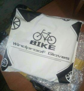 Варежки на руль велосипеда