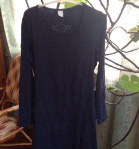 Платье стрейч темно синее
