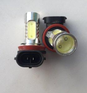 Автолампы светодиодные H8 Epistar HP + Линза