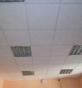 Сборка потолка амстронг