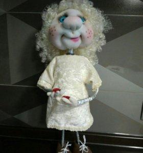 Купидон, ангел, Амур. Кукла чулочная