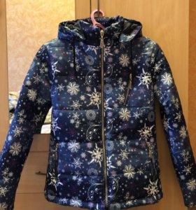 Очень тёплая женская куртка, размер 44/46,
