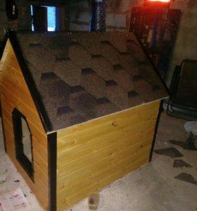 Собачья будка (утепленная собачья конура)
