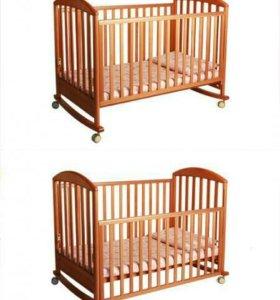 Детская кроватка Papaloni + матрас