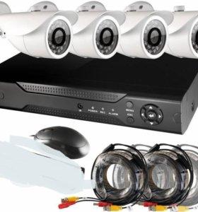 Видеонаблюдения 4 камеры