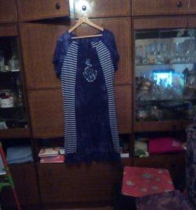 Платье велюр р.60-62