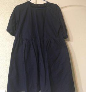 Платье Befree подойдёт беременной и легинсы