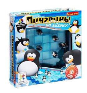 Логическая игра. Пингвины на льдинах. Bondibon.