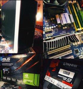 Мощный компьютер Intel 4 ядра/4GB/SSD/GT710
