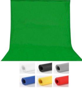 Хромокей 1,6 х 3,0 м. Зеленый фон для студий.