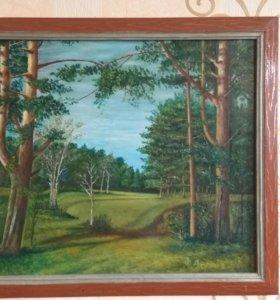 """Картина маслом. """"Пейзаж"""""""