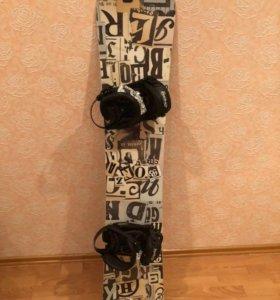 Сноуборд, крепления, ботинки
