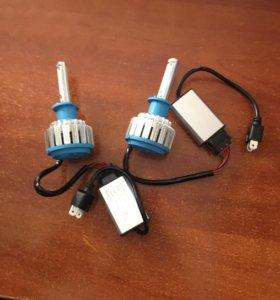 Лампочки Н1 диодные.