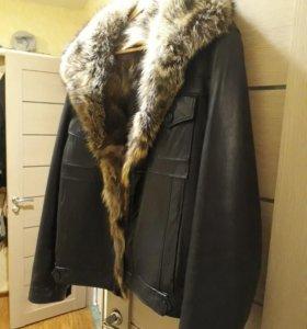 Куртка из натуральной кожи с мехом