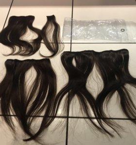 Волосы натуральные на зажимах