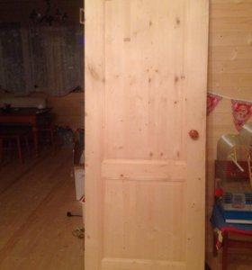 Дверь из сосны 80х200 Новая