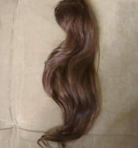 Шиньон, натуральные волосы, 45 см.