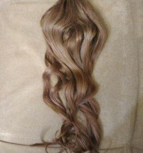Шиньон, натуральные волосы, 45см.