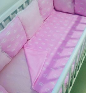 Подушки- бортики для девочки 8 штук