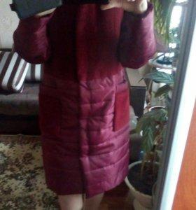 Пуховик- пальто ,демисезонное на весну