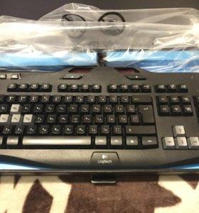 Продам игровую клавиатуру Logitech g 105
