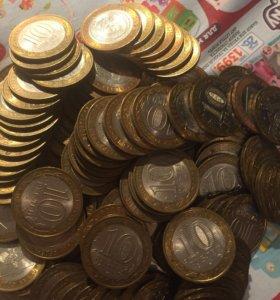 Монета юбилейные биметалл