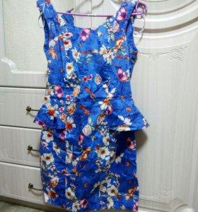Платье zolla с баской