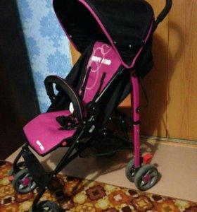 Прогулочная летняя коляска-трость для девочки