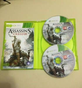 Продаю диск на xbox 360 (assassins creed 3)