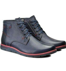 Новые кожаные зимние мужские ботинки lasocki