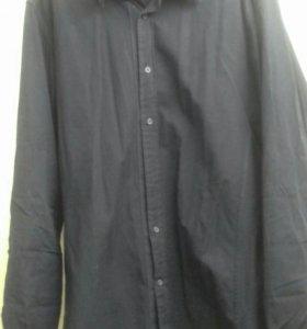 Рубашка черная mexx сорочка мужская
