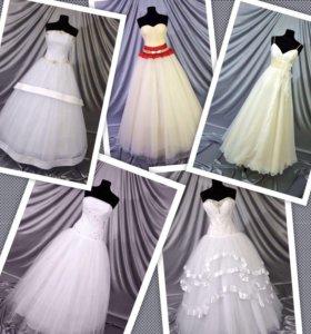 Партия свадебных платьев 14 штук