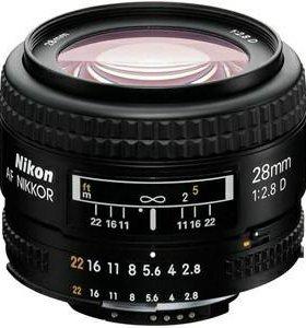 Объектив Nikon af 28mm f/2.8d