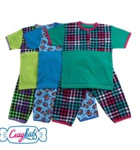 Детская пижама с кор.рукавом, хб, Россия, 22-080