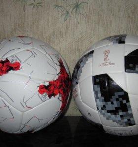 Футбольные мячи красава и Telstar 18