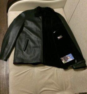Натуральная кожаная куртка (зима)