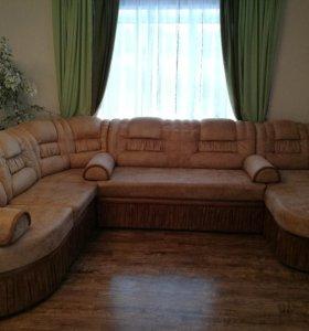 Угловой диван б/у.