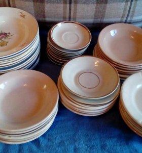 тарелки разнообразные