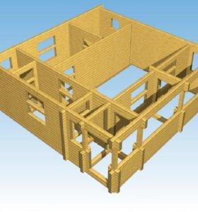 Строительство дома с мансардой 8х8