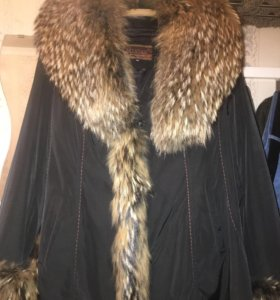 Куртка теплая зимняя натуральный мех