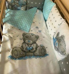 Прелестные бортики-подушки в кроватку