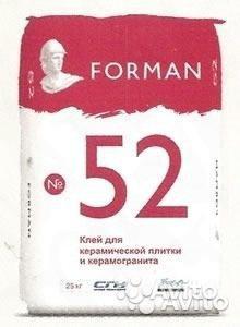 Клей для керамогранита Forman 52