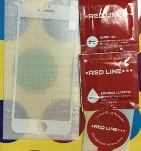 Защитное стекло белое для iPhone 6/6s